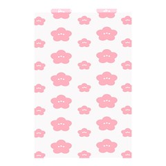 Star Pink Flower Polka Dots Shower Curtain 48  X 72  (small)