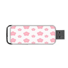 Star Pink Flower Polka Dots Portable Usb Flash (two Sides)