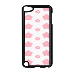 Star Pink Flower Polka Dots Apple Ipod Touch 5 Case (black)