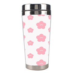 Star Pink Flower Polka Dots Stainless Steel Travel Tumblers