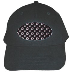Sunflower Star Floral Purple Pink Black Cap