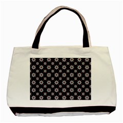 Sunflower Star Floral Purple Pink Basic Tote Bag (two Sides)