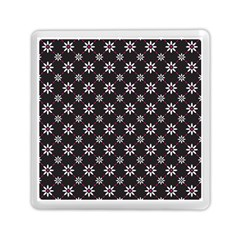 Sunflower Star Floral Purple Pink Memory Card Reader (square)