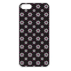 Sunflower Star Floral Purple Pink Apple Iphone 5 Seamless Case (white)