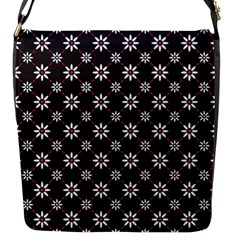 Sunflower Star Floral Purple Pink Flap Messenger Bag (s)