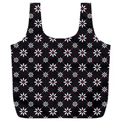 Sunflower Star Floral Purple Pink Full Print Recycle Bags (l)