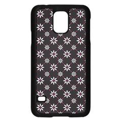 Sunflower Star Floral Purple Pink Samsung Galaxy S5 Case (black)