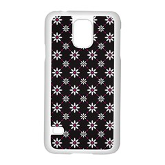 Sunflower Star Floral Purple Pink Samsung Galaxy S5 Case (white)