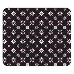 Sunflower Star Floral Purple Pink Double Sided Flano Blanket (small)
