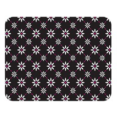 Sunflower Star Floral Purple Pink Double Sided Flano Blanket (large)