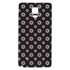 Sunflower Star Floral Purple Pink Galaxy Note 4 Back Case