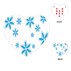 Star Flower Blue Playing Cards (heart)