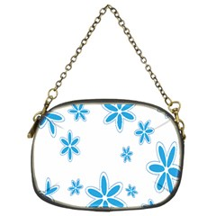 Star Flower Blue Chain Purses (two Sides)