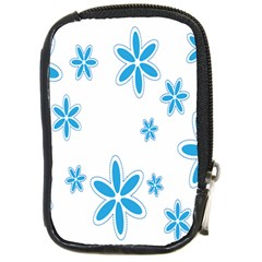 Star Flower Blue Compact Camera Cases