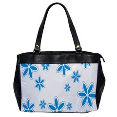 Star Flower Blue Office Handbags