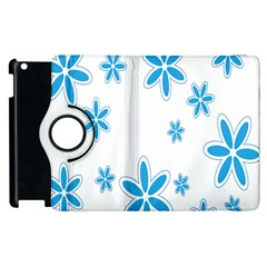 Star Flower Blue Apple Ipad 3/4 Flip 360 Case