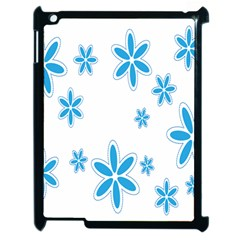 Star Flower Blue Apple Ipad 2 Case (black)