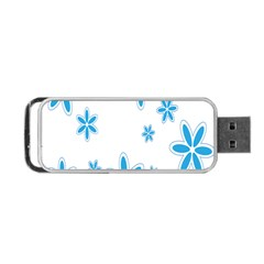 Star Flower Blue Portable Usb Flash (one Side)