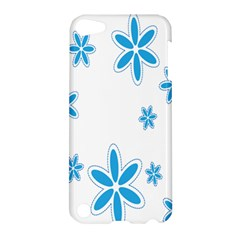 Star Flower Blue Apple Ipod Touch 5 Hardshell Case