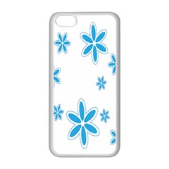 Star Flower Blue Apple Iphone 5c Seamless Case (white)