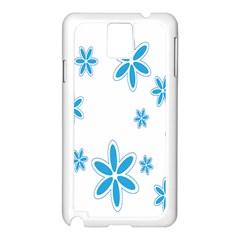 Star Flower Blue Samsung Galaxy Note 3 N9005 Case (white)