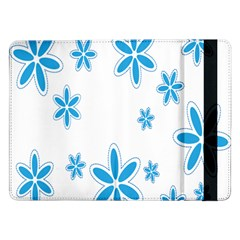 Star Flower Blue Samsung Galaxy Tab Pro 12 2  Flip Case