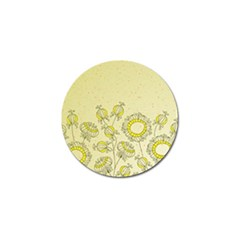 Sunflower Fly Flower Floral Golf Ball Marker (10 Pack)