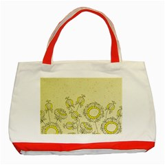 Sunflower Fly Flower Floral Classic Tote Bag (red)