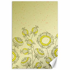 Sunflower Fly Flower Floral Canvas 20  X 30