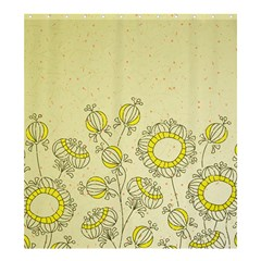 Sunflower Fly Flower Floral Shower Curtain 66  X 72  (large)