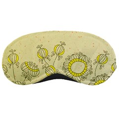 Sunflower Fly Flower Floral Sleeping Masks