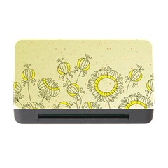 Sunflower Fly Flower Floral Memory Card Reader With Cf