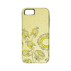 Sunflower Fly Flower Floral Apple Iphone 5 Classic Hardshell Case (pc+silicone)