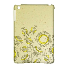 Sunflower Fly Flower Floral Apple Ipad Mini Hardshell Case (compatible With Smart Cover)
