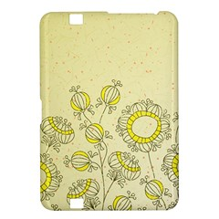 Sunflower Fly Flower Floral Kindle Fire Hd 8 9