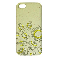 Sunflower Fly Flower Floral Apple Iphone 5 Premium Hardshell Case