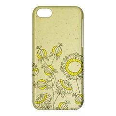 Sunflower Fly Flower Floral Apple Iphone 5c Hardshell Case