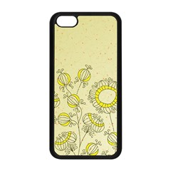 Sunflower Fly Flower Floral Apple Iphone 5c Seamless Case (black)