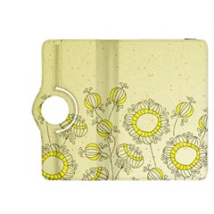 Sunflower Fly Flower Floral Kindle Fire Hdx 8 9  Flip 360 Case