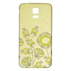 Sunflower Fly Flower Floral Samsung Galaxy S5 Back Case (white)