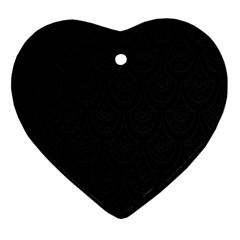 Skin Abstract Wallpaper Dump Black Flower  Wave Chevron Ornament (heart)