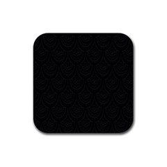 Skin Abstract Wallpaper Dump Black Flower  Wave Chevron Rubber Square Coaster (4 Pack)