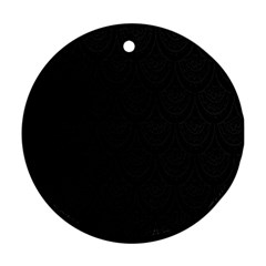 Skin Abstract Wallpaper Dump Black Flower  Wave Chevron Round Ornament (two Sides)