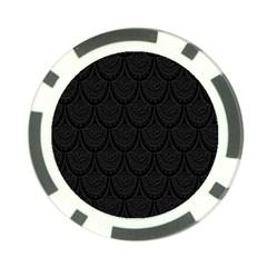 Skin Abstract Wallpaper Dump Black Flower  Wave Chevron Poker Chip Card Guard (10 Pack)