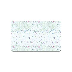 Spot Polka Dots Blue Pink Sexy Magnet (name Card)