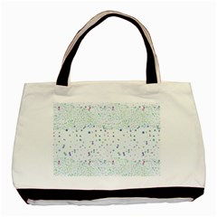 Spot Polka Dots Blue Pink Sexy Basic Tote Bag (two Sides)