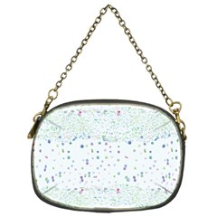 Spot Polka Dots Blue Pink Sexy Chain Purses (one Side)