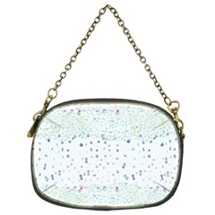 Spot Polka Dots Blue Pink Sexy Chain Purses (two Sides)