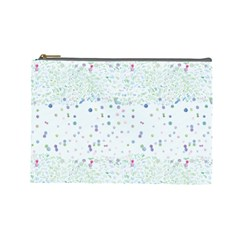 Spot Polka Dots Blue Pink Sexy Cosmetic Bag (large)