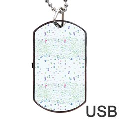 Spot Polka Dots Blue Pink Sexy Dog Tag Usb Flash (two Sides)